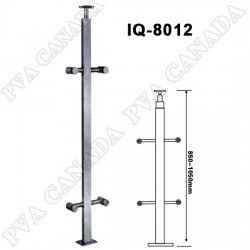 """Baluster post for  42"""" high  glass railings. Middle post. Satin finish."""