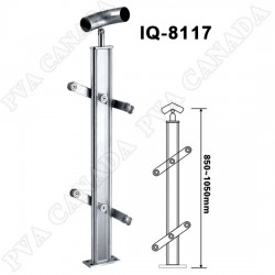 50.8mm SS pipe Handrail 90° elbow with  accessory Left side-SS pipe