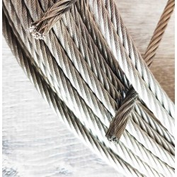 Pure Solid Stainless Steel high quality cable - 6mm diameter  (1/4 inch)
