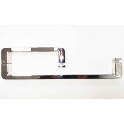 Shower glass door handle-square towel bar 8 and 16 inch- Brushed finish.