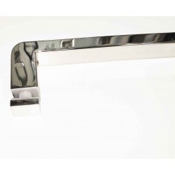 Shower glass door handle-square towel bar 8 and 16 inch- Chrome finish.