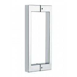 Shower glass door handle-square tube 13x25mm,  16 inch long- Chrome.