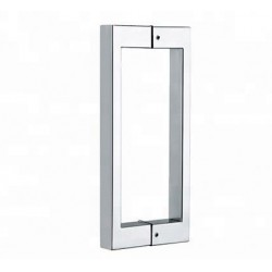 Shower glass door handle-square  16 inch- Chrome finish.