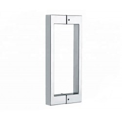 Shower glass door handle-square tube 13x25mm,  16 inch long- Brushed.