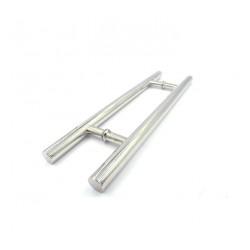 Shower glass door handle H style-round tube 1-inch diameter, 20 inch, 12 inch CC- Chrome finish.