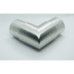 Brushed Stainless Steel sharp 90 elbow for 42mm pipe