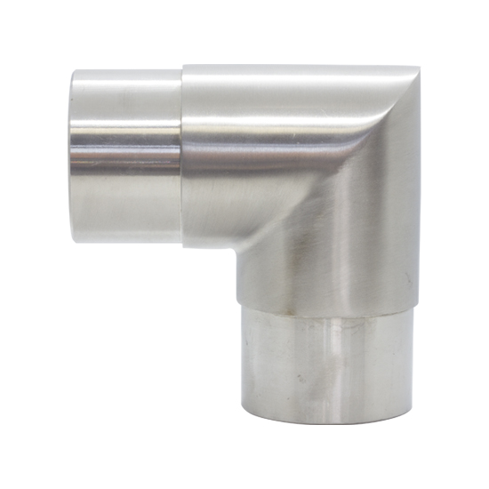Brushed Stainless Steel sharp 90 elbow for 50.8mm pipe