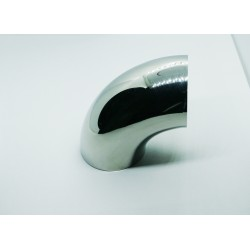 Brushed Stainless steel 90 degree small connector for wood or PVC handrail