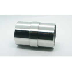 Satin Stainless Steel Pipe 42mm  Straight Connector