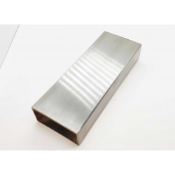 Rectangular Stainless Steel 25x50mm (1x2 inch)  handrail pipe- Brushed finish- 3 meters long