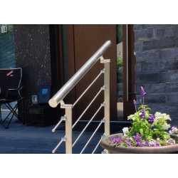 Stainless Steel 42mm (1-5/8 inch) diameter handrail pipe- Brushed finish-3 meters long (10ft)