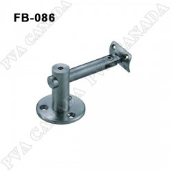Handrail wall bracket- Brushed finish FB-086 Adjustable height and angle