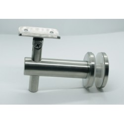 Handrail bracket for glass- Brushed finish IQ-9008 Adjustable height and angle.