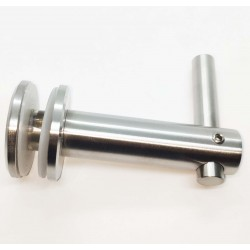 Handrail bracket for glass- Brushed finish IQ-9009 Adjustable height no top ( for welding)