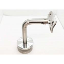 Handrail bracket for glass adjustable top- Brushed finish IQ-9005