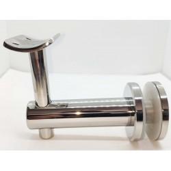 Handrail bracket for glass- Chrome finish IQ-9015 Adjustable height.