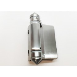 Heavy Duty Pool Glass gate hinge glass to round post.