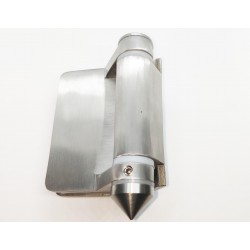 Heavy Duty Pool Glass gate hinge glass to flat post or wall 90° connection.