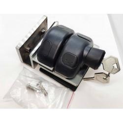 Pool Glass gate latch glass to glass 90°-Lockable with key