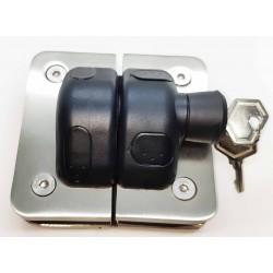 Heavy Duty Pool Glass gate latch glass to glass 180°- Lockable with key
