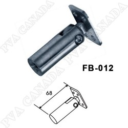 Handrail holder for balusters/posts- Flat top Chrome finish