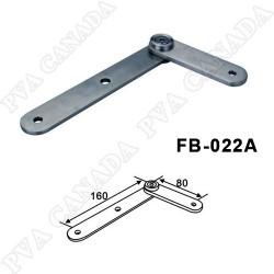 Adjustable Straight Glass holder for balusters/posts - Brushed finish