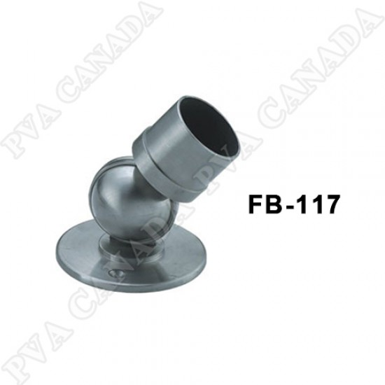Brushed Stainless Steel 50.8mm Universal connector to wall