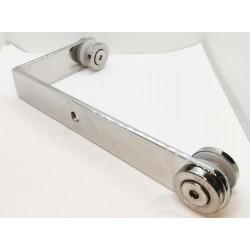 Corner adaptor for Glass holder - Brushed finish