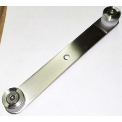 Glass holder for balusters/posts - Brushed finish