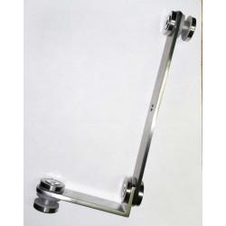 Adjustable Corner adaptor- holder for balusters/posts - Brushed finish
