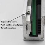 Aluminum Base shoe glass railing system