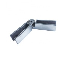 Glass clamp glass to glass adjustable angle for 10-12mm glass - Brushed finish
