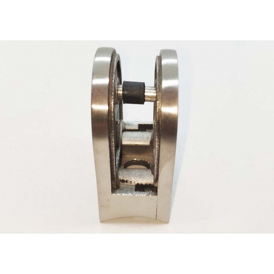 Glass clip rounded style- round back-Chrome finish- 8-12mm glass