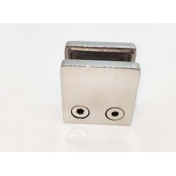 Glass clip square style- flat back-Chrome finish-10mm glass
