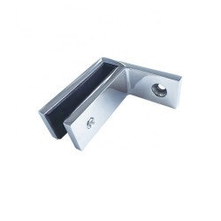 Glass clamp glass to wall for 10-12mm glass - Brushed finish