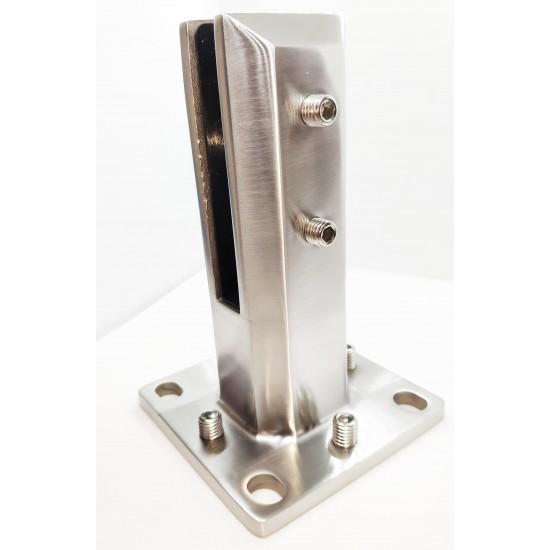 Hi Quality Square glass spigot-Brushed finish- 4 ways Adjustable levels