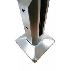 Square glass spigot-Brushed finish