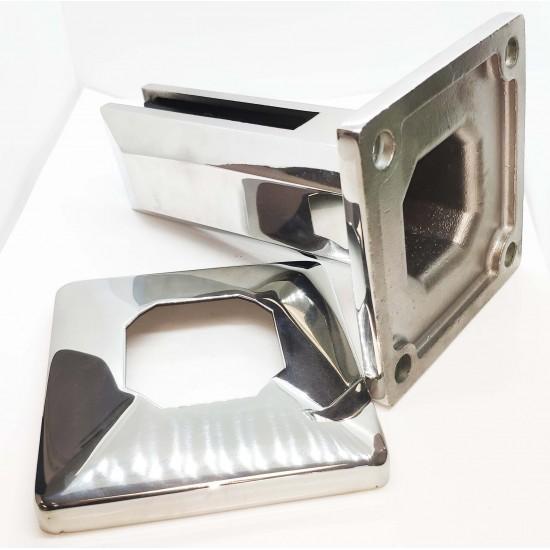 Square glass spigot-Chrome finish