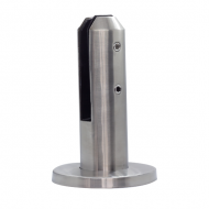 Round Spigot for glass- brushed finish