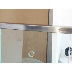 """Heavy Duty Stainless Steel U-Channel Cap/Tube 25x21mm for 1/2"""" or 5/8"""" Glass-Brushed finish"""