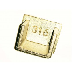 End cap for TK-2521 Heavy Duty Stainless Steel U-Channel Cap/Tube 25x21mm -Brushed finish 316-Stainless