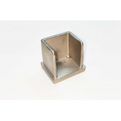 End cap for KS-1512 Heavy Duty Stainless Steel U-Channel Cap/Tube 25x21mm -Brushed finish 304-Stainless