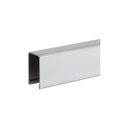 """Stainless Steel U-Channel Cap for 1/2"""" or 5/8"""" Glass-Brushed finish"""
