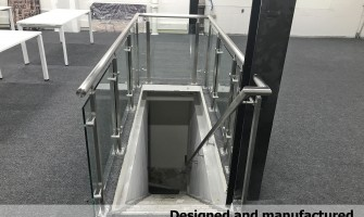 Commercial offices Stair glass railings