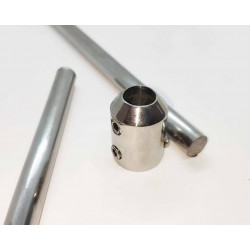 End Cap Connector for 10mm rod between walls- Brushed finish