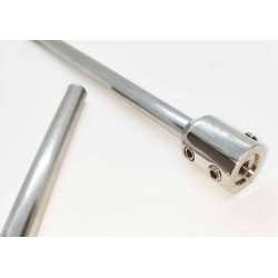 End Cap Connector for 10mm rod between walls- Chrome finish