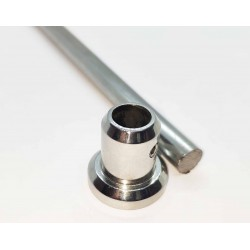 End Cap to Wall Connector for 10mm rod - Chrome finish