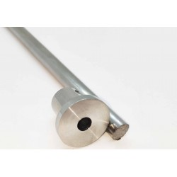End Cap to Wall Connector for 10mm rod - Brushed finish
