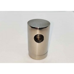 Rod Holder to Wall or Post for 10mm rod - Chrome finish