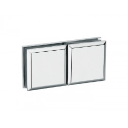 SHOWER GLASS TO GLASS CLAMP 180° BEVELED STYLE 45X45MM-CHROME FINISH